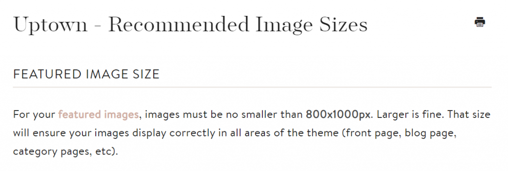 recommended image size in Etsy theme to keep site speed loading times faster