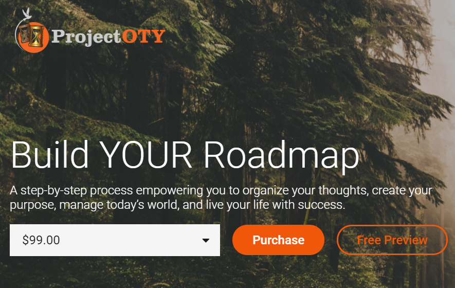 Project OTY roadmap view of digital course hosted in Thinkific to improve site speed