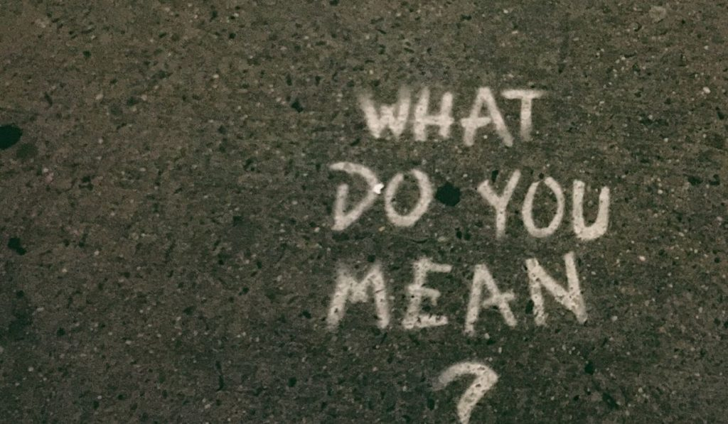What do you mean text in white chalk on black pavement