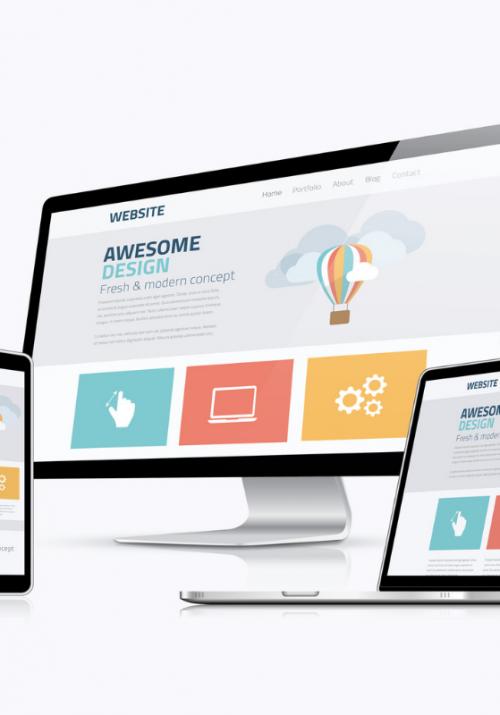 Devices showing website builder platform design