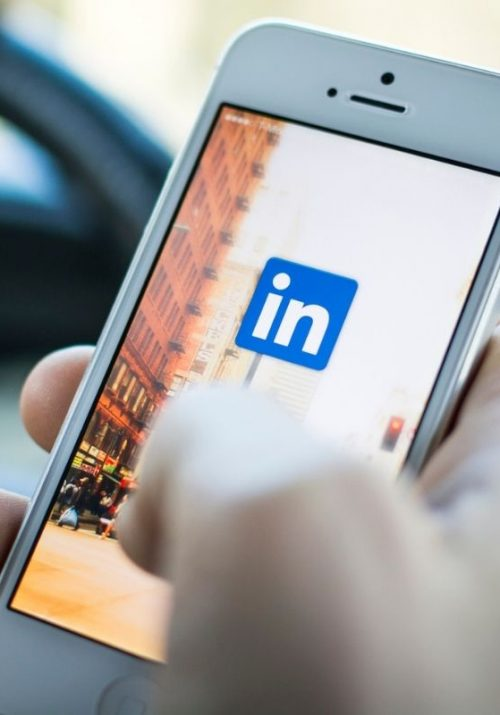 Linkedin login screen on smartphone