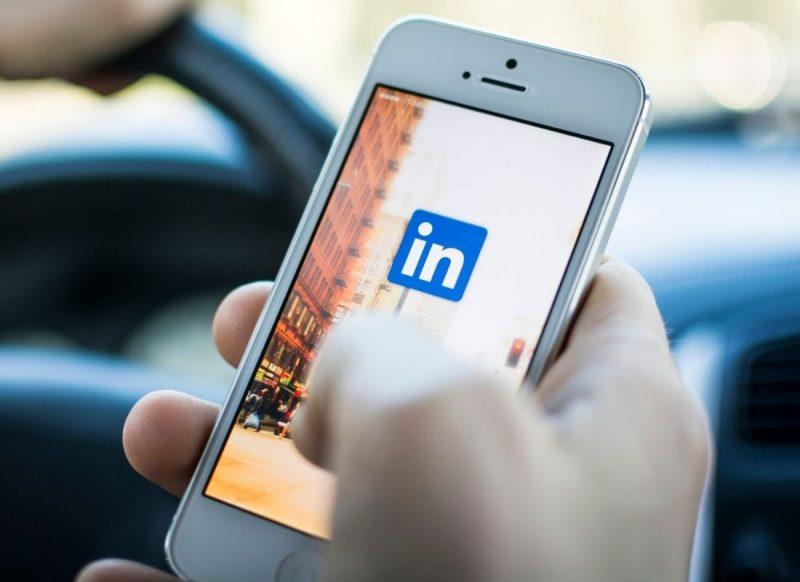 Linkedin login screen on smartphone