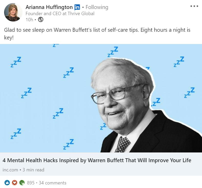LinkedIn b2b feed post