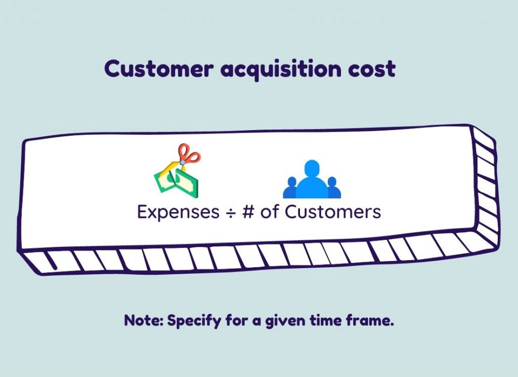 equation to calculate customer acquisition cost for saas metric